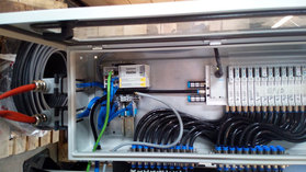 io link turck usa  silencer production wired with io link junction boxes