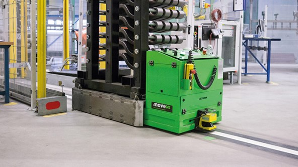Rfid In An Automated Guided Vehicle Turck Usa